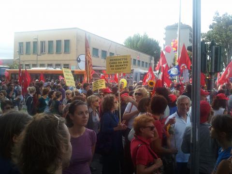 Manifestazione CGIL a Mestre